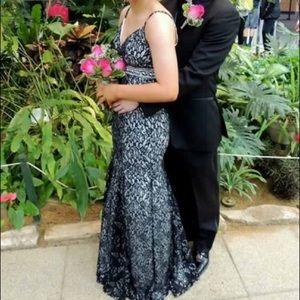Dresses & Skirts - Black and silver prom dress